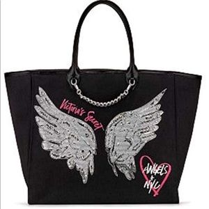 *Last One*Victoria's Secret Black tote with wings